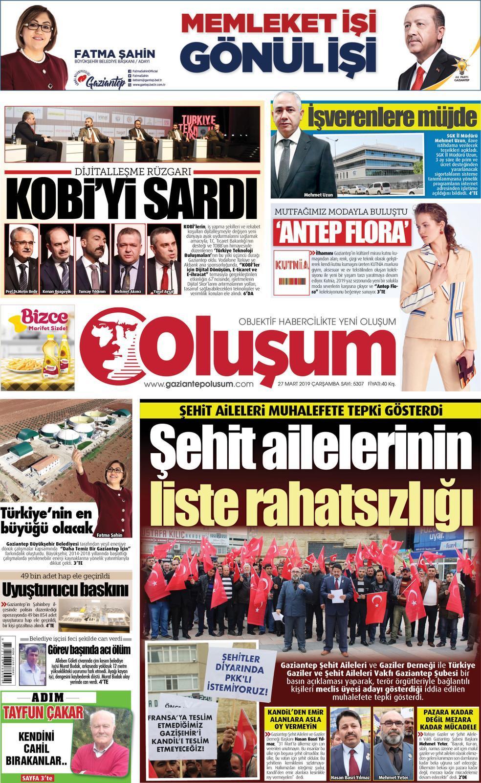 Vakfımızın Gaziantep Şubesinden, PKK İle İrtibatlı Kişilerin Adaylığına Tepki