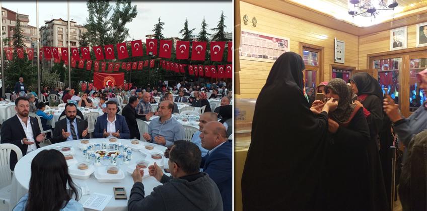 Keçiören'de 15 Temmuz gazi ve şehit aileleriyle iftar