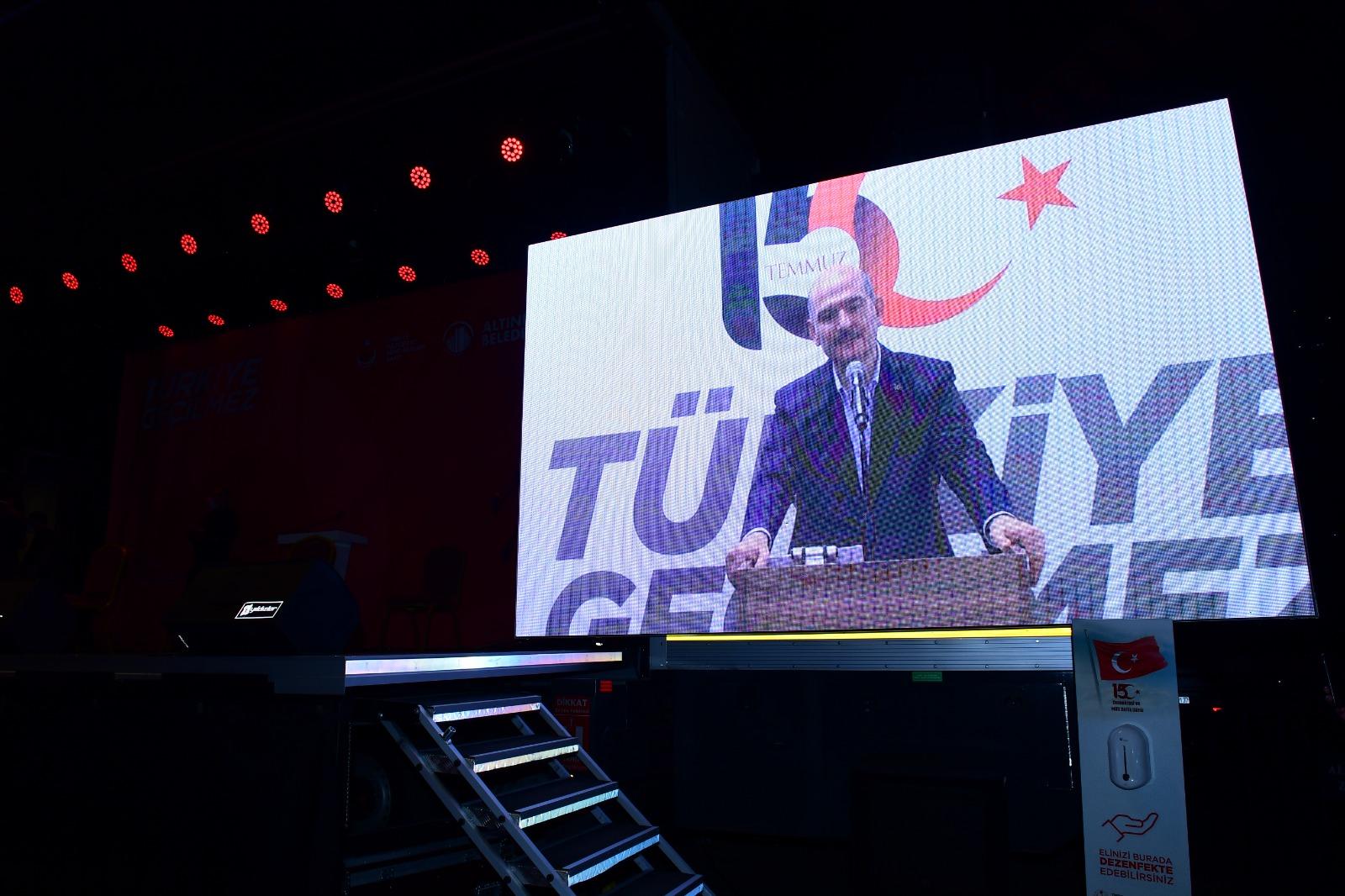 İçişleri Bakanı Sayın Süleyman Soylu'dan 15 Temmuz mesaj: Bir tane bile FETÖ'cü çer çöp bırakmayağız.