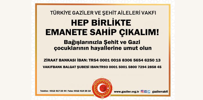 HEP BİRLİKTE  EMANETE SAHİP ÇIKALIM!