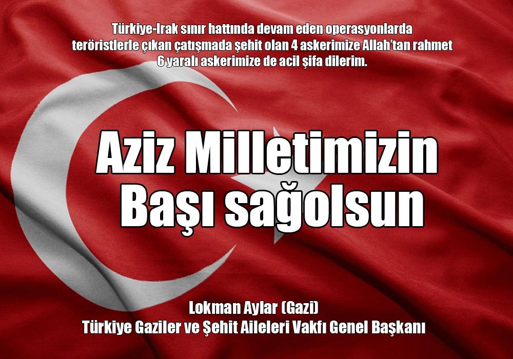 Türkiye'nin başı sağolsun