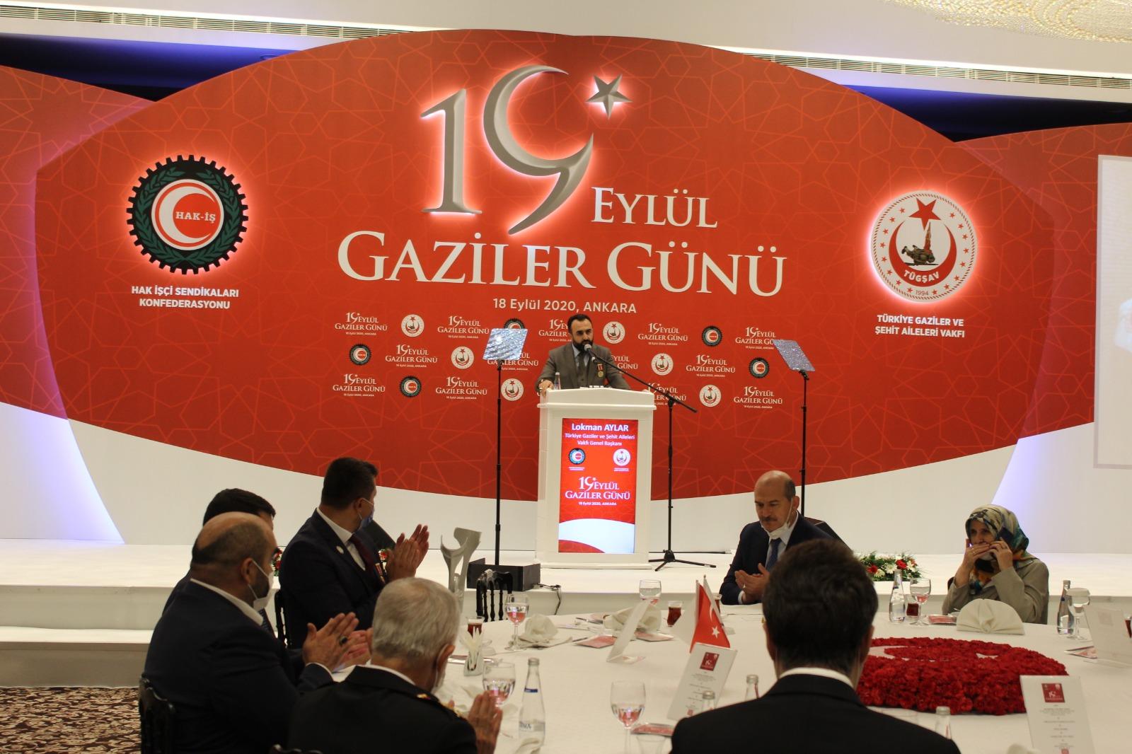 Genel Başkanımız (Gazi) Lokman Aylar'ın 19 Eylül Gaziler Resepsiyonun Yapmış Olduğu Konuşma
